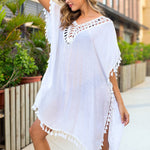 Load image into Gallery viewer, Heidi Open Back White Beach Dress