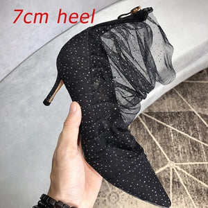 Crystal High Heel Pumps