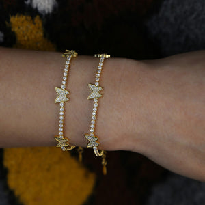 Iced Out Tennis Butterfly Bracelet