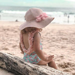 Load image into Gallery viewer, Baby Flower Cartoon Swimsuit
