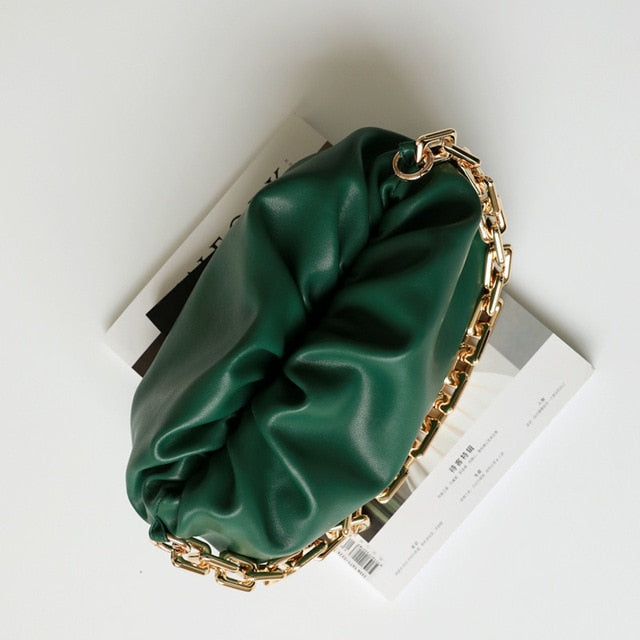 Leather Cloud Clutch