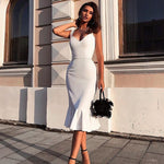 Load image into Gallery viewer, White Bandage Kylie Dress