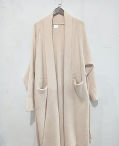 Alpaca Knit Cardigan Coat