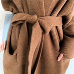 Load image into Gallery viewer, Alpaca Knit Cardigan Coat