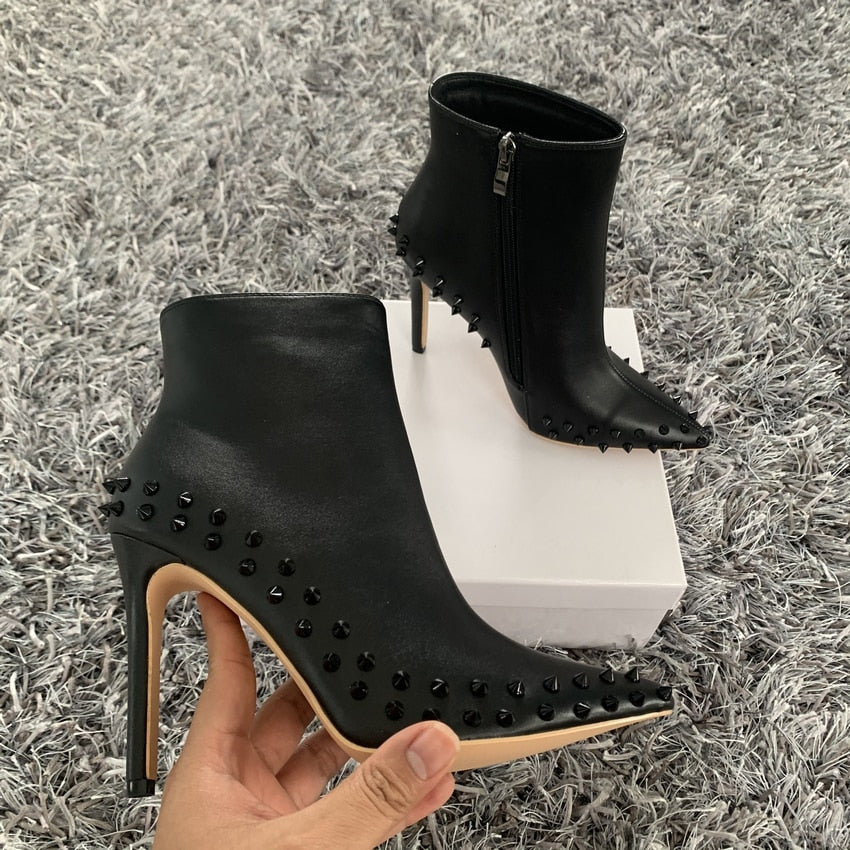 Stiletto Stud Booties