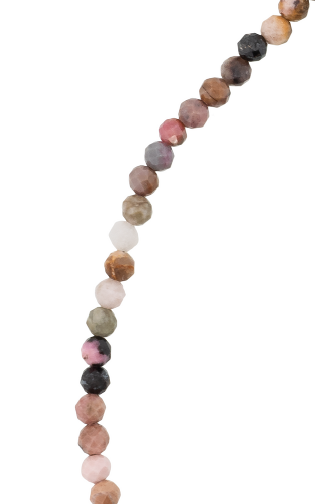 Nude Tourmaline Bead Necklace Melia