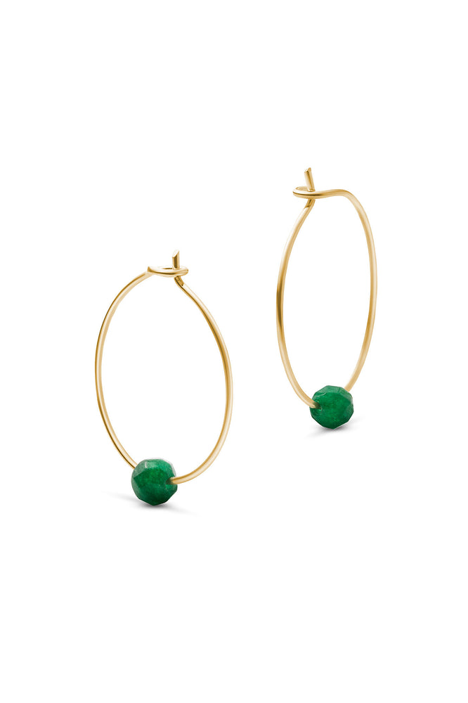 Birthstone Hoops May