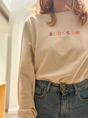 Load image into Gallery viewer, Blossom Embroidery Sweatshirt