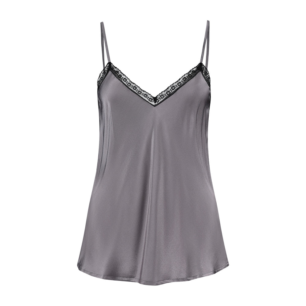 Product photo of the Lou singlet top in Taupe.