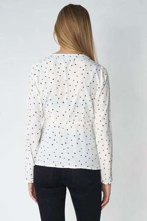 Load image into Gallery viewer, Mini Hearts Wrap Blouse
