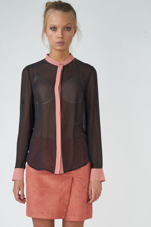 Light Georgette Tiny-dot Printed Shirt