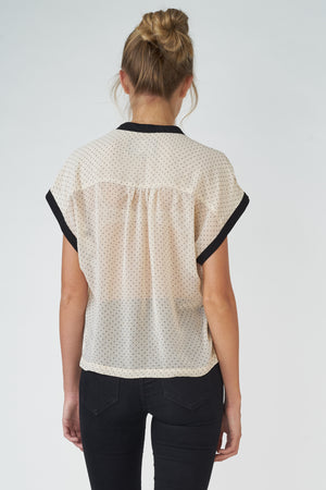 Light Georgette Tiny-Dot Printed Top