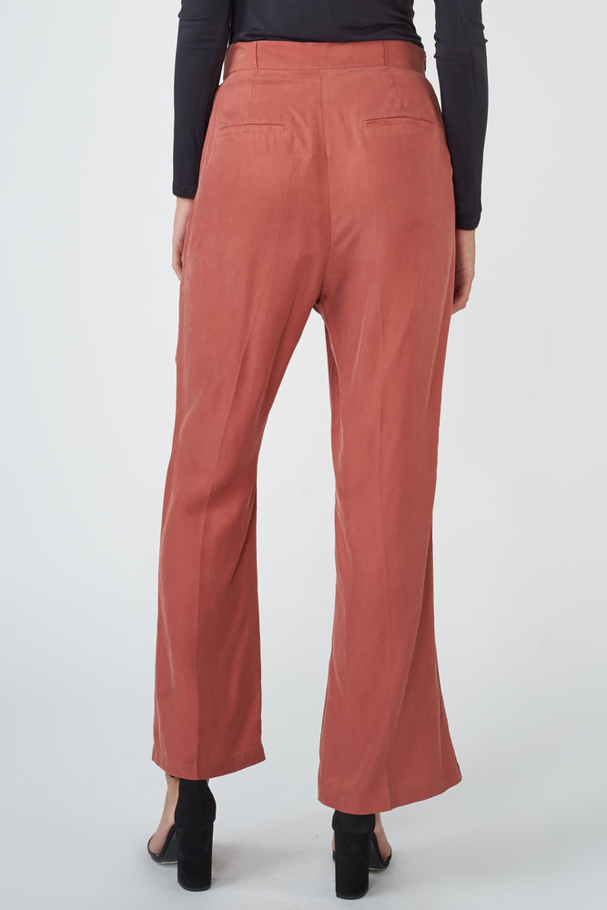 Flared Split-leg Trousers