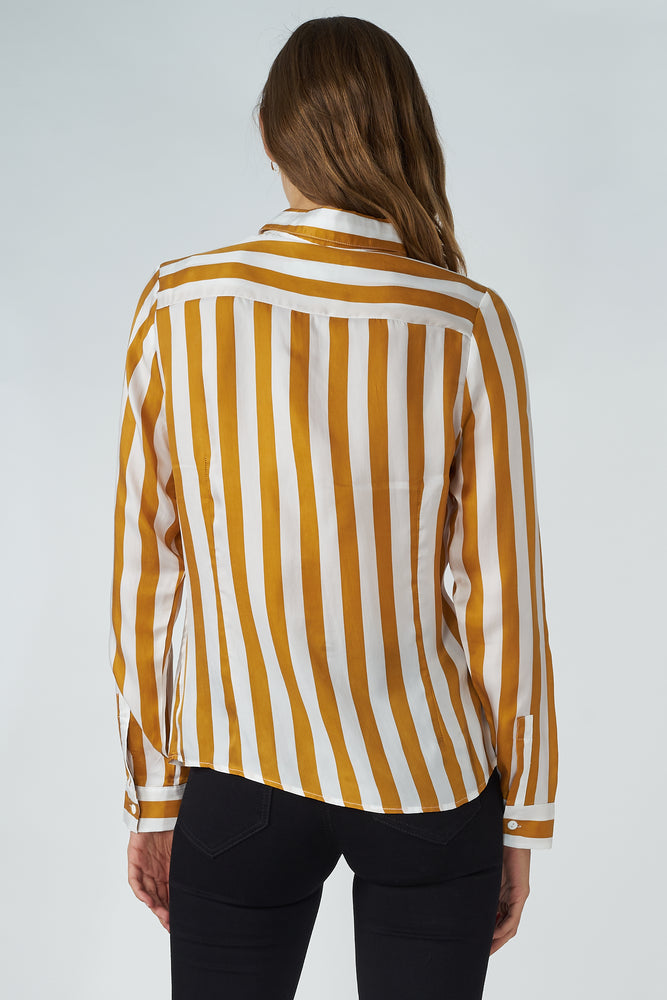 Load image into Gallery viewer, Cupro Striped Shirt