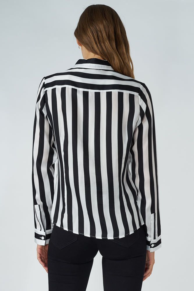Cupro Striped Shirt