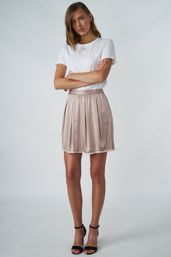 Load image into Gallery viewer, Silk Elastic-waist Skirt