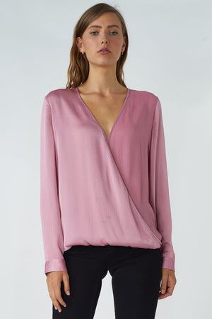 Cross Draped Blouse