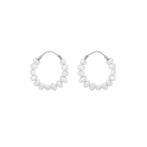 Load image into Gallery viewer, Pearl Ring Earrings