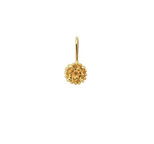November Birthstone Necklace Charm Citrine 14K