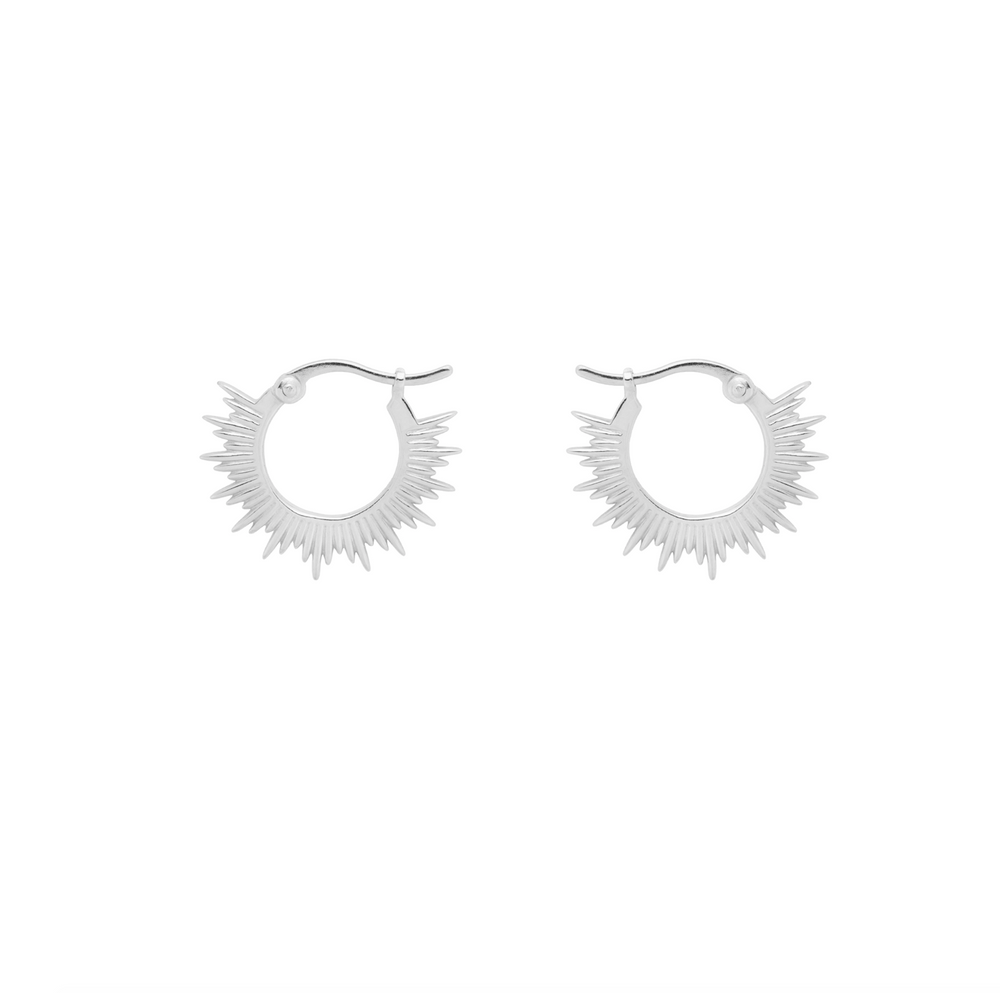 Rising Sun Ring Earrings