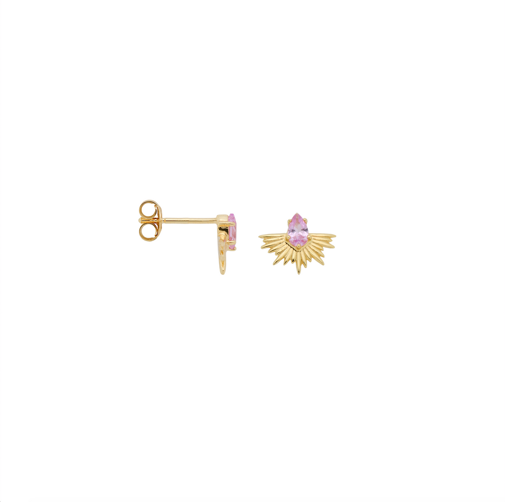 Single Rising Sun Stud Earring