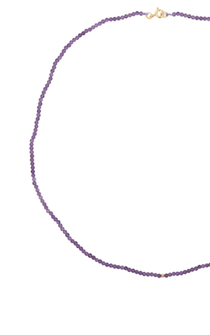Josephine Beaded Necklace Amethyst