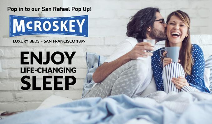 EVENT: Pop into our San Rafael Pop Up - Enjoy Breakfast in Bed with Us