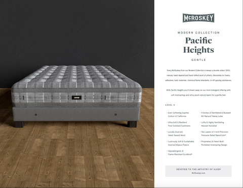 Pacific Heights Gentle Specifications