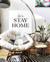 Stay home canvas