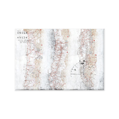 Mapa chile canvas