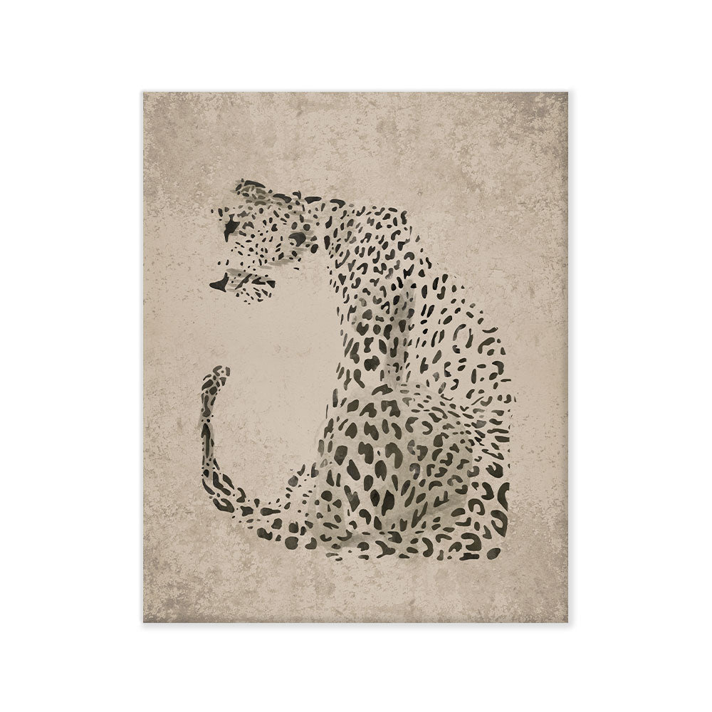 Leopardo gris canvas