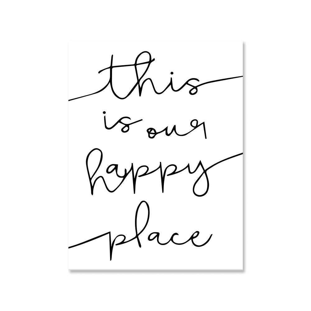 This is our happy place canvas