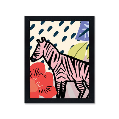 Color jungle zebra