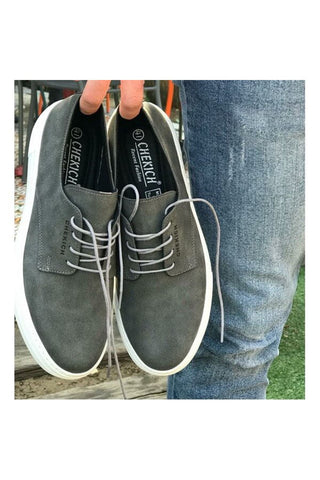 Image of Men's Lace-up Anthracite Shoes
