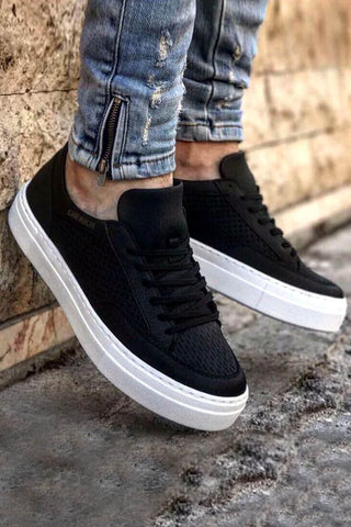 Men's Lace-up Black Shoes