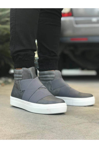 Image of Men's Cross Strap Anthracite Boots