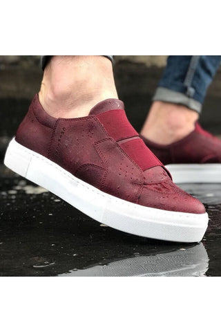 Image of Men's Claret Red Shoes