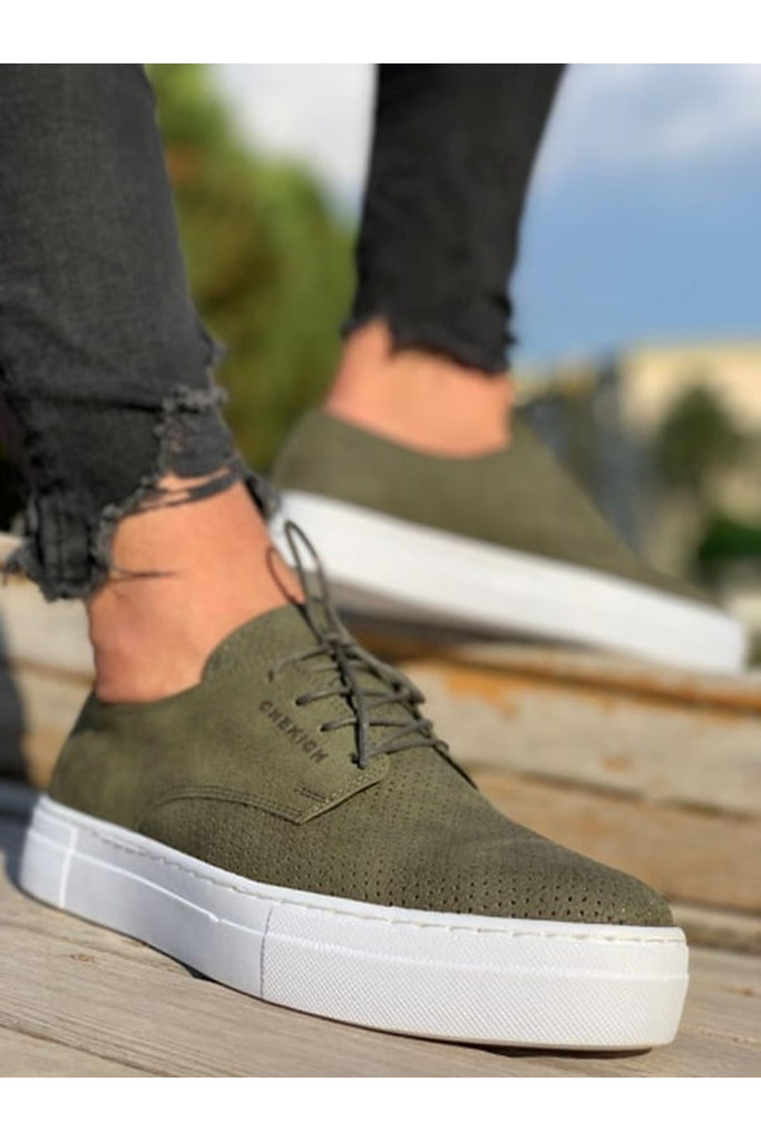Men's Lace-up Khaki Shoes