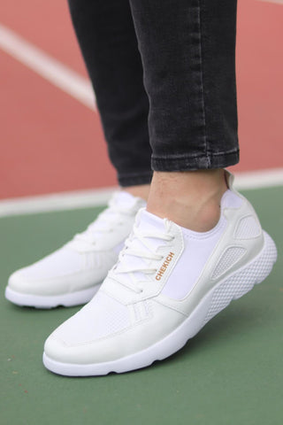 Image of Men's Lace-up White Shoes