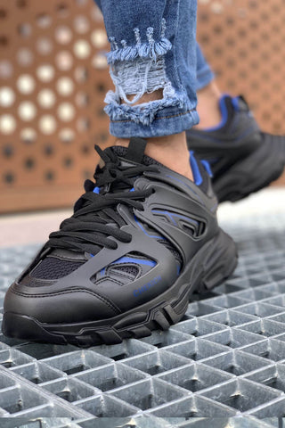 Image of Men's Black Blue Sport Shoes