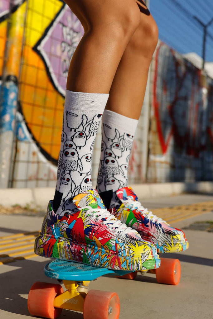 Women's Lace-up Printed Multi-color Sport Shoes