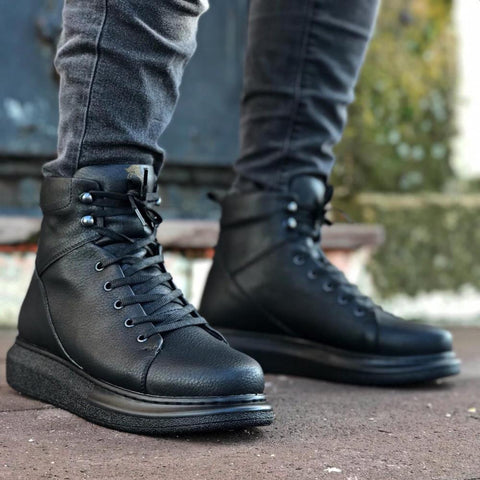 Image of Men's Thick Sole Black Boots