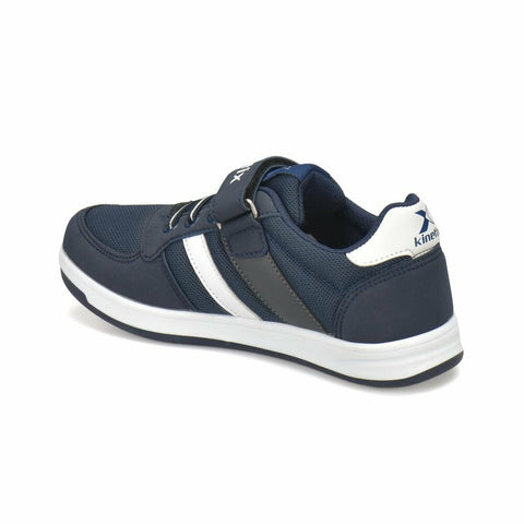 Boy's Navy Blue White Sneakers