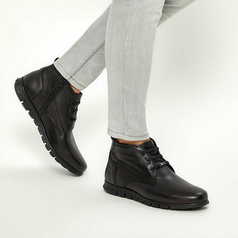 Image of Men's Black Leather City Boots