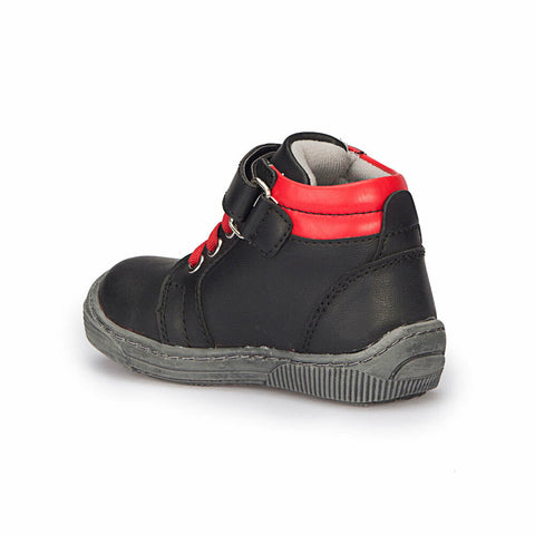 Image of Boy's Black Red Sneakers