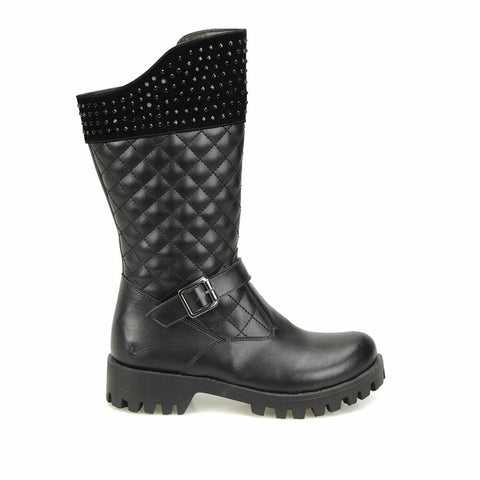 Image of Girl's Black Basic Boots