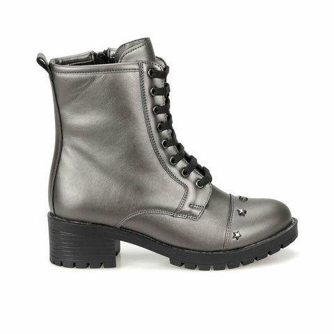 Women's Anthracite Military Boots