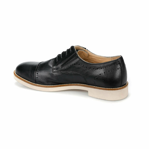 Image of Men's Black Leather Shoes