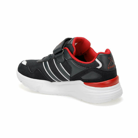 Boy's Lace-up Velcro Strap Walking Shoes