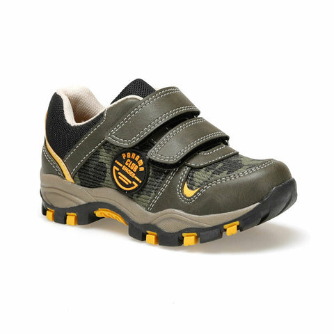 Image of Boy's Velcro Strap Khaki Outdoor Shoes
